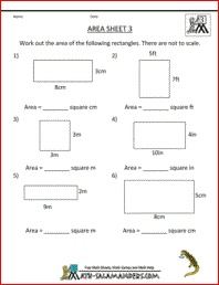 Area Worksheet 3rd Grade Geometry Worksheet To Find The