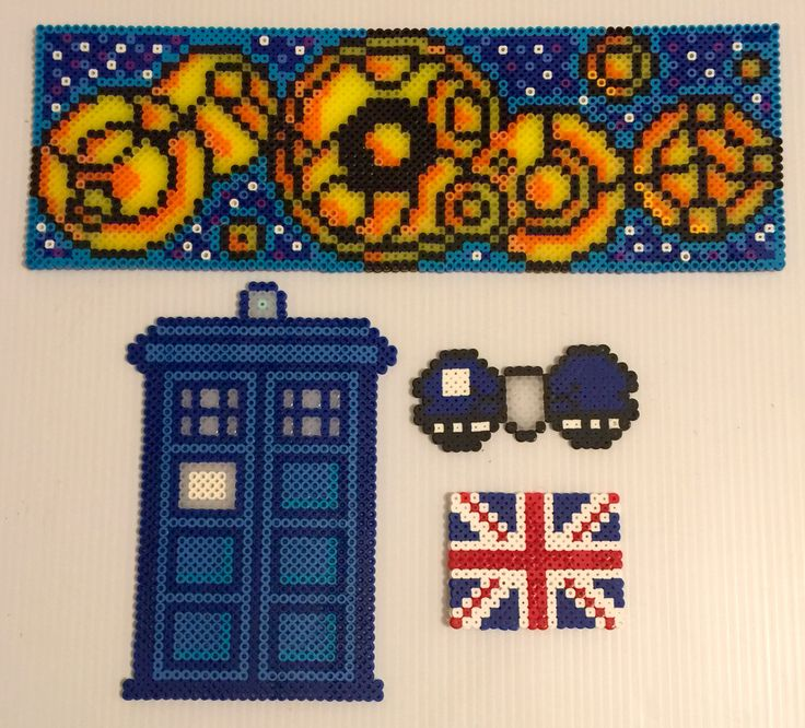 My silly Doctor Who perler collection