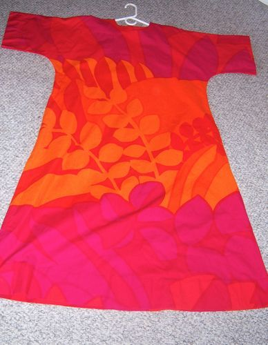 Vintage 1974 Marimekko Suomi Finland Cotton Dress
