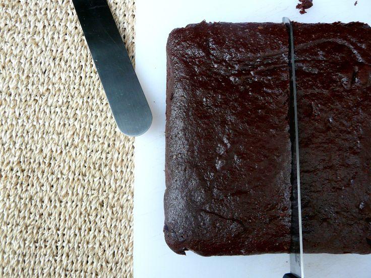 De la cocina de DP, los brownies están listos para cortarse.