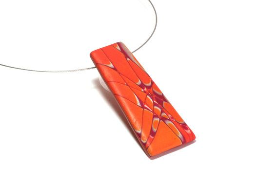 Hey, I found this really awesome Etsy listing at https://www.etsy.com/listing/177328347/orange-crush-artistic-pendant-necklace