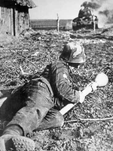 "adlerangriff:  ""German soldier with a panzerfaust  """