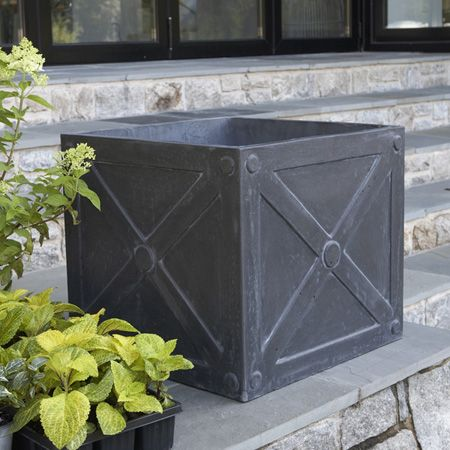 classic square planter (fibreclay) from Thos. Baker