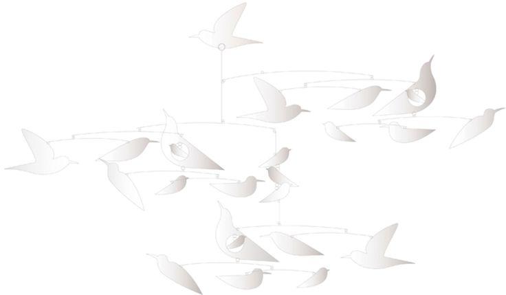 Köp Djeco Mobil White Birds | Barnrummet Sängtillbehör | Jollyroom