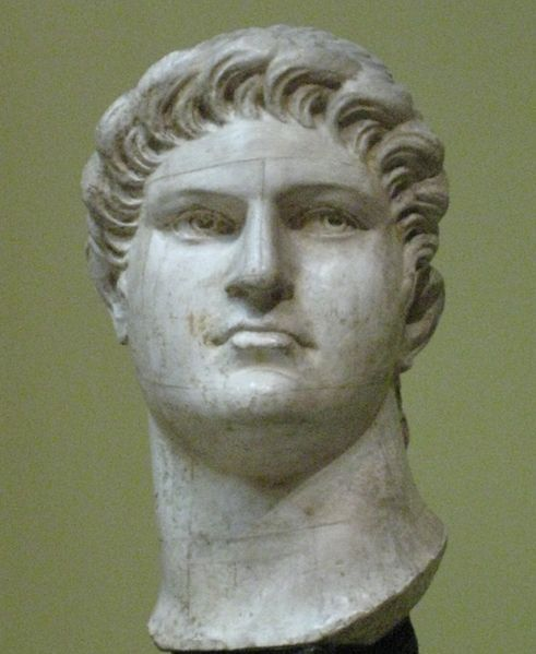 Ancient Rome. NERO (37-68), grandson of Agrippina the Elder, nephew of Caligula, son & murderer of Agrippina the Younger, adopted heir & possible murderer of Claudius, appointer & victim of Galba, lover of Otho, patron of Vitellius, was under the thumb of his mother until he had her killed to seize total control.  Nero was the last official member of the Julio-Claudian dynasty although he would be succeeded by his appointee Galba, his lover Otho, & his protege Vitellius in quick succession.
