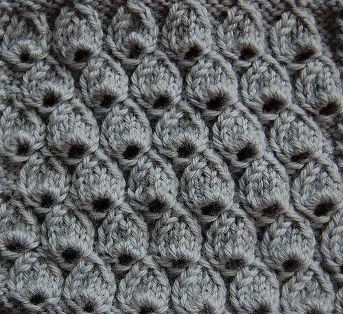 Knitting Gathered Stitches : Tear Drop