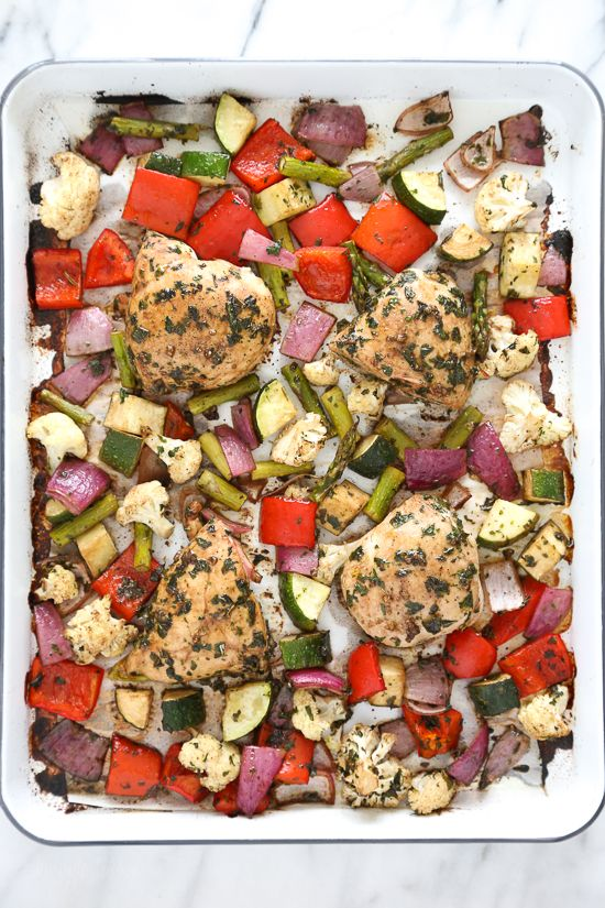 am I the only one obsessed with sheet-pan dinners? I mean, what's easier than tossing everything with balsamic and herbs and throwing it in the oven for 20 minutes!