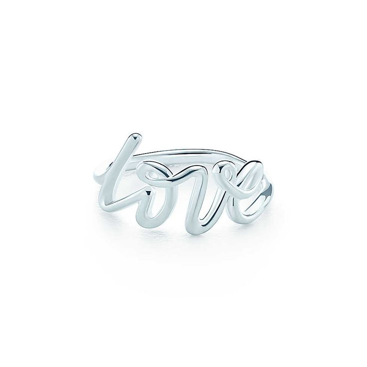 Paloma Picasso® Love ring in sterling silver. | Tiffany  Co. size 4.5 $175