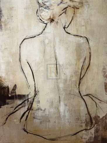 simple but classic female figure sketch... apartment art
