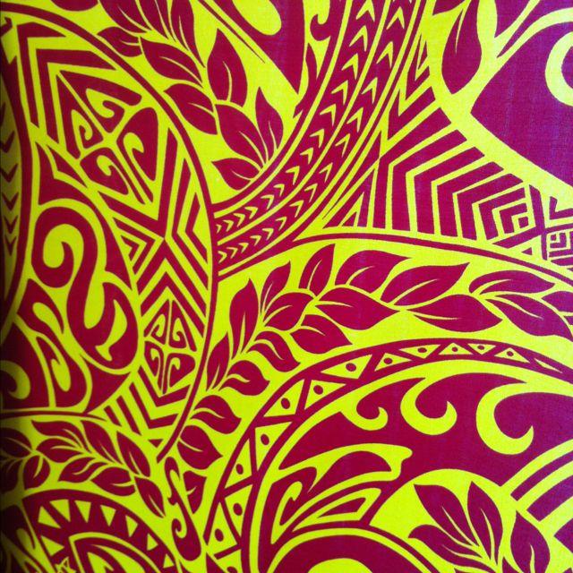 Hawaiian print fabric - beautiful!