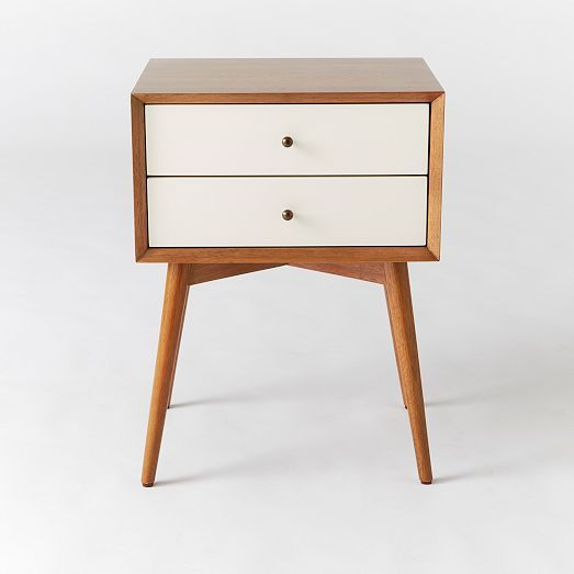 West Elm Mid-Century Nightstand - White + Acorn | http://www.westelm.com/products/mid-century-nightstand-white-acorn-h438/?bnrid=3917500&cm_ven=AfCmtyCont&cm_cat=rewardStyle&cm_pla=CJ&cm_ite=Std