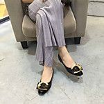Babetler - Günlük - Yuvarlak Burun - Yapay Deri - Düz Topuk - Siyah / Kahverengi / Kırmızı - Kadın ayakkabı 2016 - $25.19