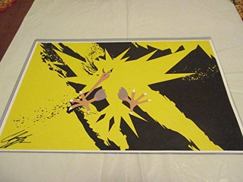 "POKEMON ZAPDOS!! 11"" By 17"" Limited Edition Print Signed By Chris Huffman, W/coa"