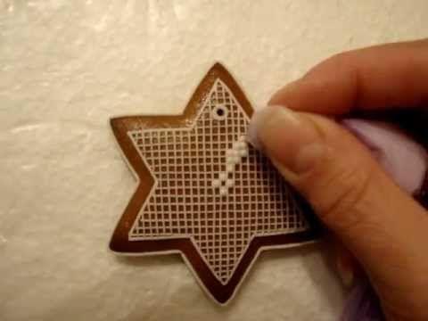YVKA zdobenie medovníkov - mriežka    Чудесно видео за техниката на украсяване на меденките, като бродерия