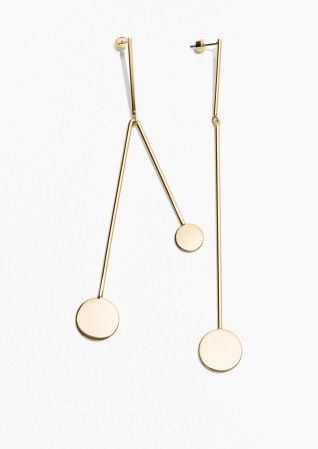 & Other Stories Plate Earrings in Gold
