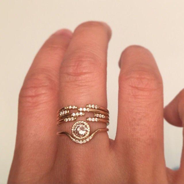 Jennie Kwon Designs Diamond Wave Ring Engagement Rings