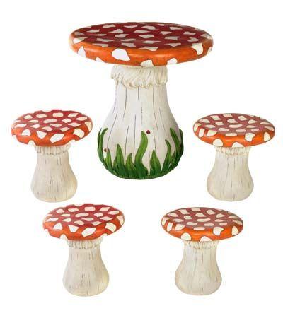 Mushroom Table for playroom! just like willy wonka ahhhh