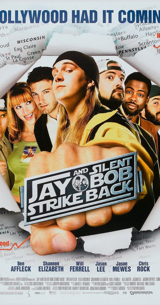 Directed by Kevin Smith.  With Jason Mewes, Kevin Smith, Ben Affleck, Jeff Anderson. The comic 'Bluntman and Chronic' is based on real-life stoners Jay and Silent Bob, so when they get no profit from a big-screen adaptation they set out to wreck the movie.