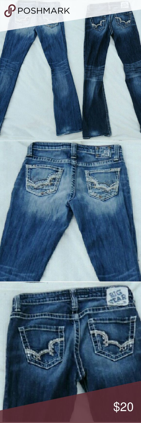 2 pair of Big Star Jeans Long 2 pair of Big Star Jeans both 27 Long! Great condition!  No rips or holes!  $20 for both Big Star Jeans Boot Cut