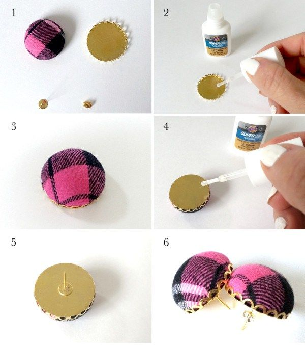 Make a pair of trendy plaid earrings diy tutorial kraftmint.com