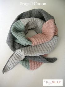 MyUpperPenthouse: Seagull Cotton scarf/shawl - English pattern