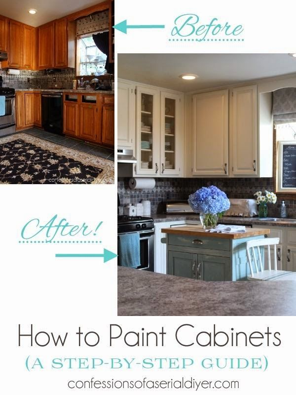 13 best images about painting cabinets on pinterest for Best way to spray paint kitchen cabinets