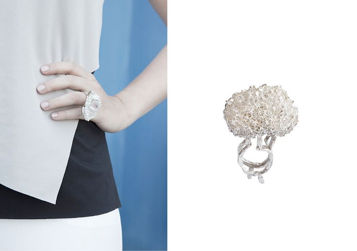 "Elisabeth Habig ""radici dell´anima"" ring 2015 material: silver"
