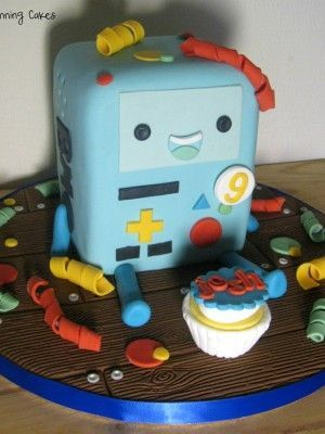 BMO Adventure Time cake! Totally want this for my Birthday!!!