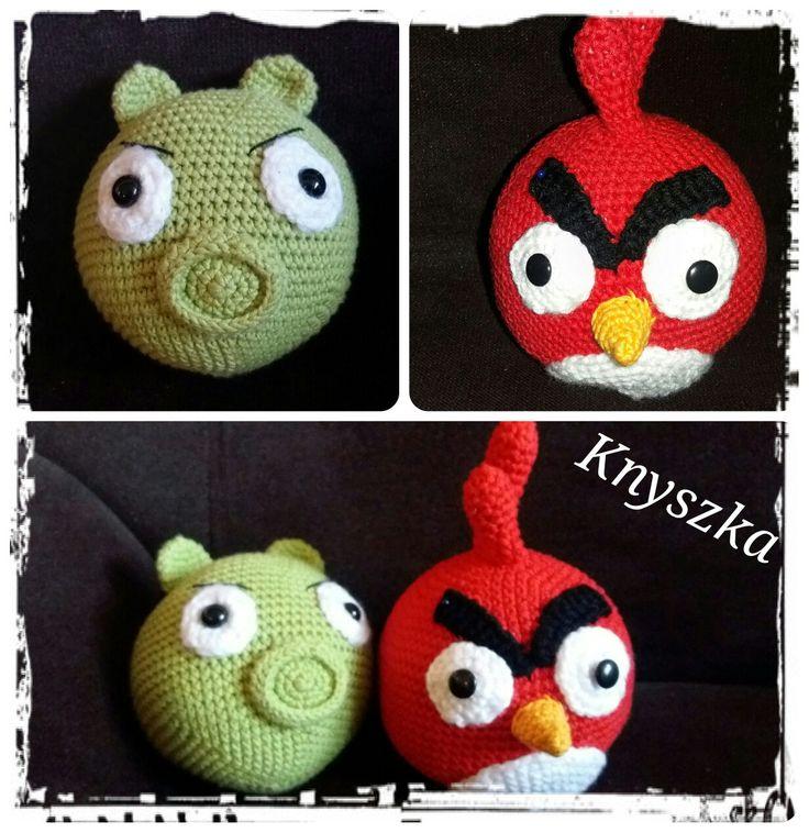 Crochet angry birds