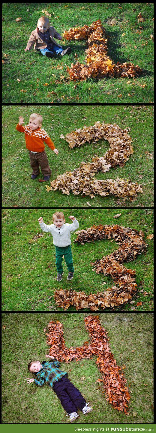 Jeden Herbst und so festhalten wie die Kinder wachsen- herrlich!