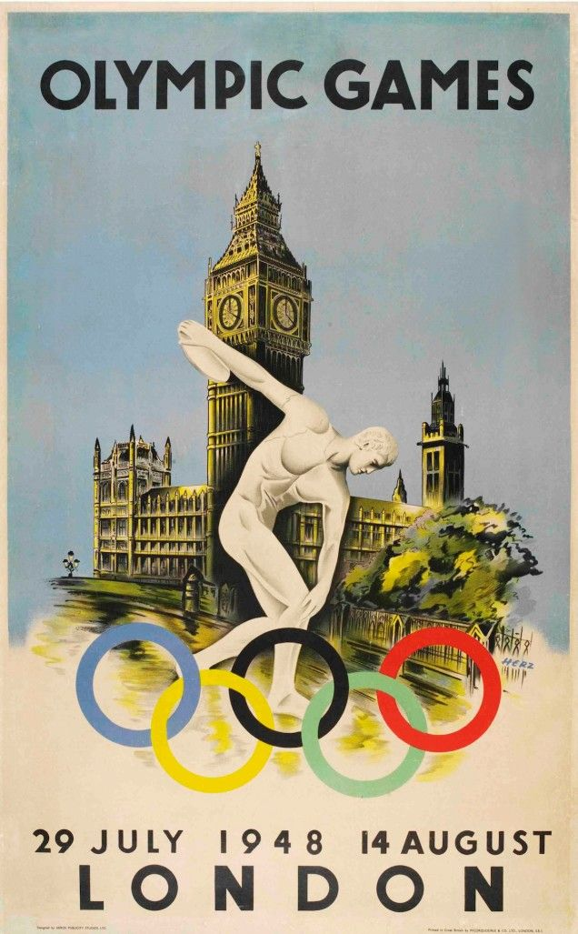 1948, London Olympic Games poster
