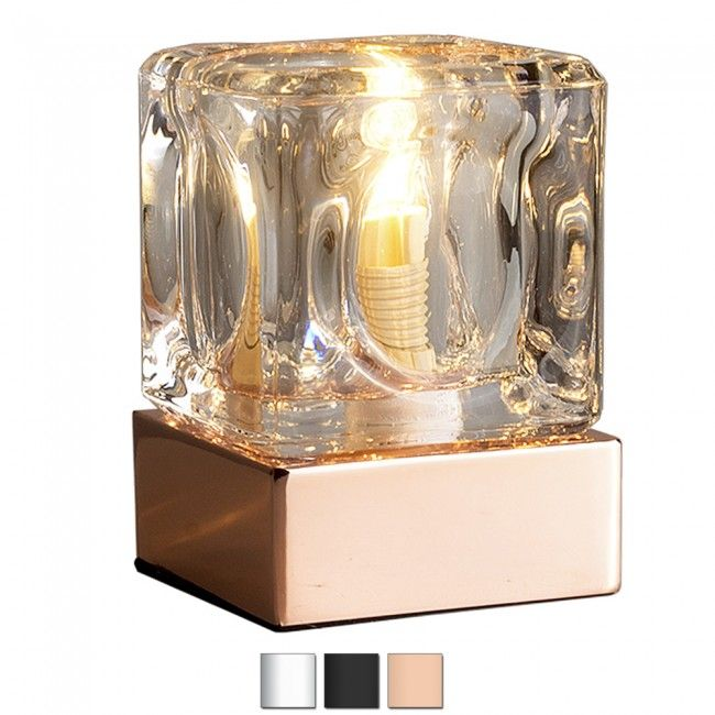 14 best lights images on pinterest copper touch table lamps and modern ice cube style touch table lamp in copper aloadofball Choice Image
