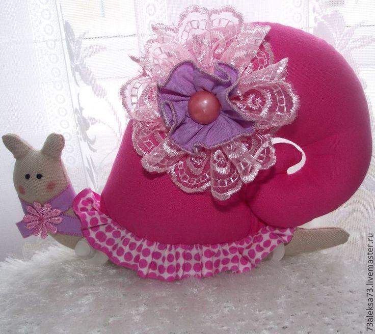 Купить Жозефина Улитка-Тильда - брусничный, розовый, улитка, улитка Тильда, игрушка тильда