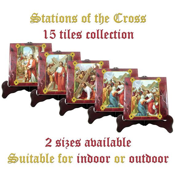 Guarda questo articolo nel mio negozio Etsy https://www.etsy.com/it/listing/286417053/stations-of-the-cross-15-tiles