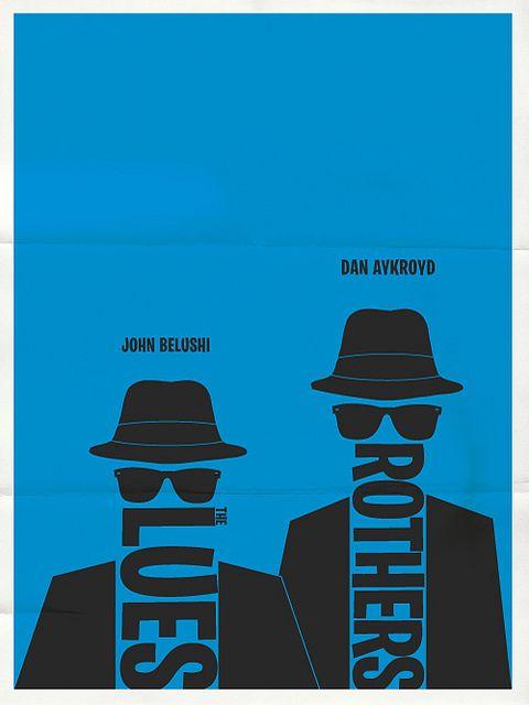 The Blues Brothers minimalist typographic poste