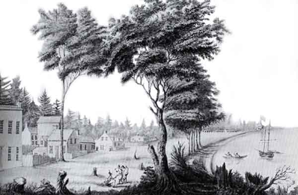 Toronto as it appeared in the autumn of 1803 Illustration by Edward Walsh, surgeon, 49th Regiment