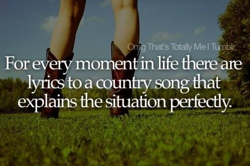 Country music. I am a TN born country girl raised on country music still love the old kind. It told about real life