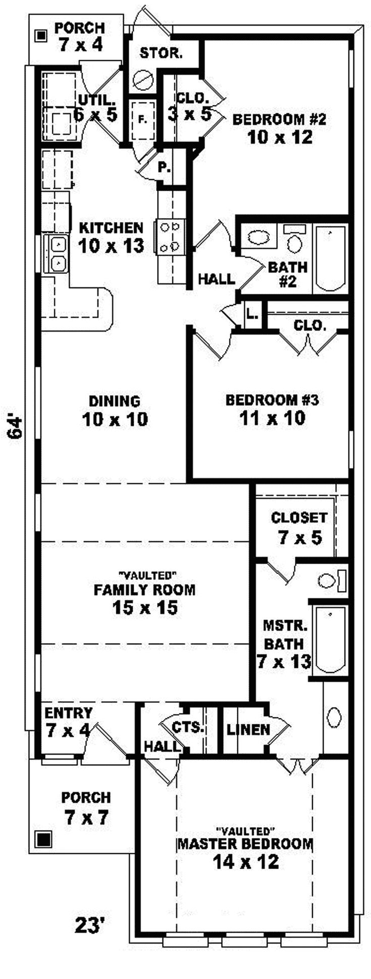 Best 25 narrow house plans ideas on pinterest narrow Narrow lot house plans