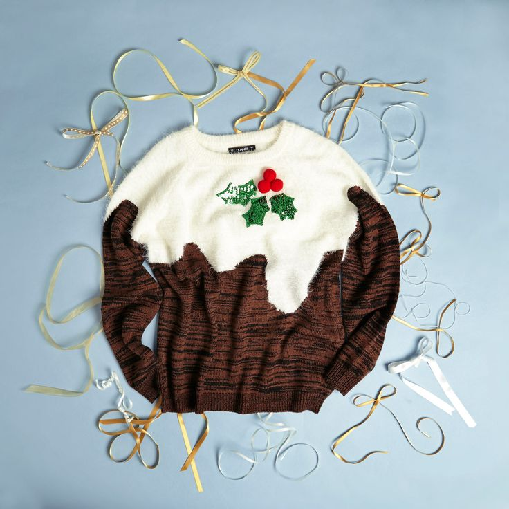 Make it a bit of fun with a Christmas pudding jumper