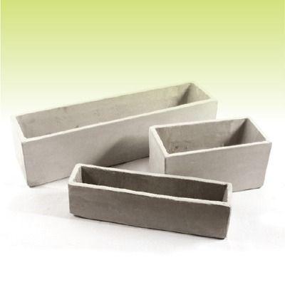 piramidal 50 40 30 - macetas de fibrocemento - cemento ref.