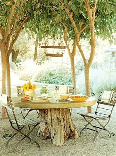 11 pictures of crazy cool uses for tree stumps, outdoor furniture, outdoor living, repurposing upcycling, woodworking projects, Photo via Interiorholic