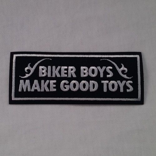 EMBROIDERED BIKER PATCH BIKER BOYS WHITE