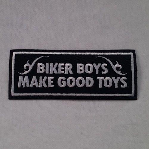 EMBROIDERED BIKER PATCH BIKER BOYS WHITE