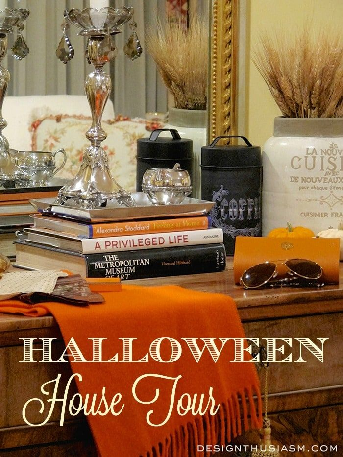 Halloween House Tour - Designthusiasm Indoor Halloween - indoor halloween decoration ideas