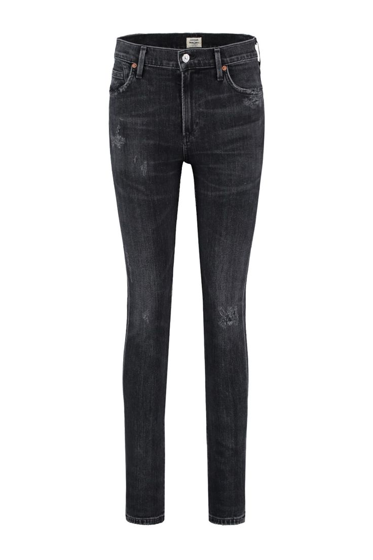 Deze jeans van Citizens of Humanity is van 98% katoen en 2% polyurethaan. De Rocket is een skinny fit met een hoge taille. Het is een supergave wassing van de Premium Vintage collectie van CoH, de jeans is afgewassen zwart met lichte plekken en een paar b