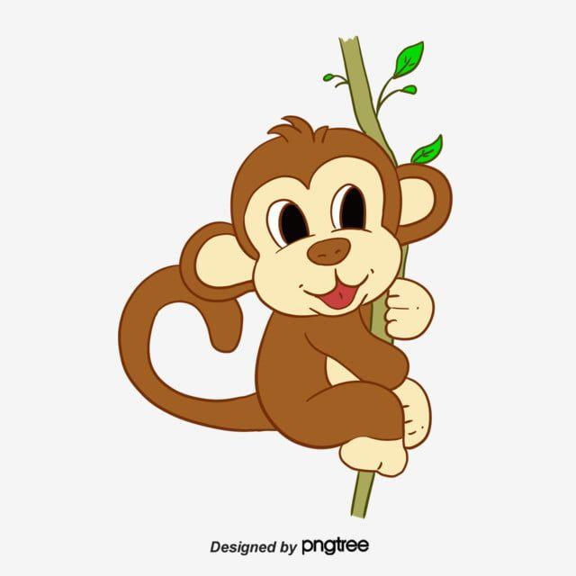 Gambar Kartun Cabang Cabang Pohon Monyet Clipart Monyet Monyet Haiwan Png Dan Psd Untuk Muat Turun Percuma Kartun Ilustrasi Karakter Monyet