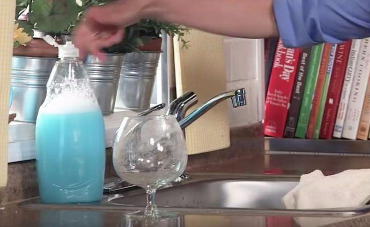 C'est surprenant à quel point c'est efficace : les verres brillent!