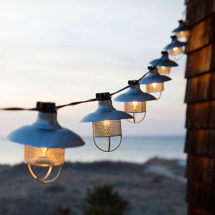 Outdoor string lights hanging lanterns candle lanterns more outdoor patio lighting at terrain