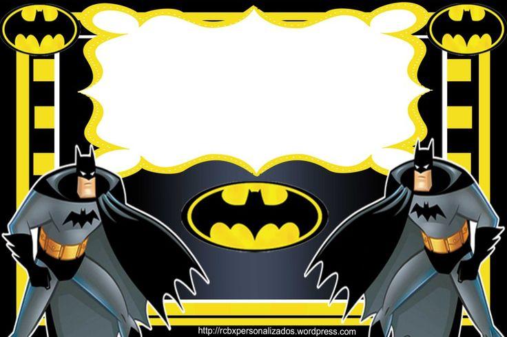 Lembrancinha Batman convite moldura lateral