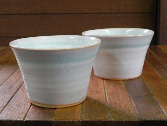 小鉢(ブルー×ホワイト) 食器 土和窯(つちわがま) ハンドメイド通販・販売のCreema